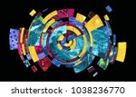 abstract colorful composition... | Shutterstock . vector #1038236770