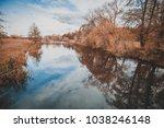 autumnal beautiful landscape ...   Shutterstock . vector #1038246148