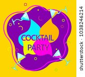 flyer for night cocktail party. ... | Shutterstock .eps vector #1038246214