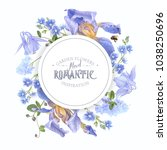vector botanical banner with... | Shutterstock .eps vector #1038250696