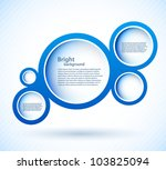 bright background with blue... | Shutterstock .eps vector #103825094