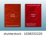 cover templates of saturated... | Shutterstock .eps vector #1038252220