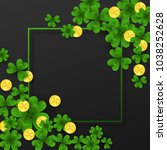 saint patrick day frame with... | Shutterstock .eps vector #1038252628