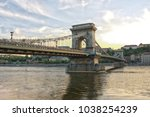 view of chain bridge  budapest  ... | Shutterstock . vector #1038254239