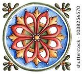 design for ceramic tiles ... | Shutterstock . vector #1038256570