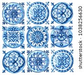 design for ceramic tiles ... | Shutterstock . vector #1038256630