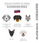 dogs by country of origin.... | Shutterstock .eps vector #1038263500