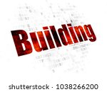 construction concept  pixelated ... | Shutterstock . vector #1038266200
