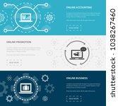 online business 3 horizontal...   Shutterstock .eps vector #1038267460