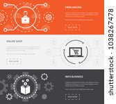 online business 3 horizontal... | Shutterstock .eps vector #1038267478