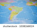 south america on the map | Shutterstock . vector #1038268024