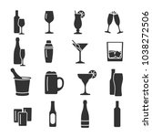 vector image set of alcohol... | Shutterstock .eps vector #1038272506