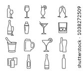 vector image set of alcohol... | Shutterstock .eps vector #1038272509