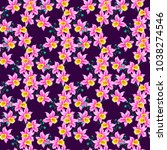 seamless pattern with bright... | Shutterstock .eps vector #1038274546