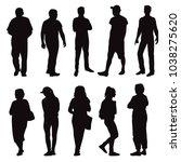 set of business people  vector... | Shutterstock .eps vector #1038275620