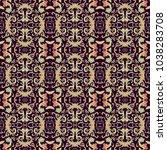 seamless ornamental vector... | Shutterstock .eps vector #1038283708