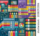 business infographic templates... | Shutterstock .eps vector #1038292306