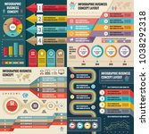 business infographic templates... | Shutterstock .eps vector #1038292318