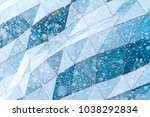 glass wall and snow flakes | Shutterstock . vector #1038292834