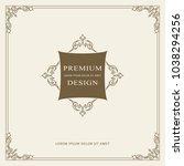 vintage ornament greeting card... | Shutterstock .eps vector #1038294256