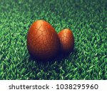 chocolate surprise easter eggs... | Shutterstock . vector #1038295960