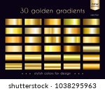 gold gradients collection. set...