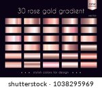 rose gold gradients collection. ... | Shutterstock .eps vector #1038295969