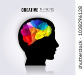 creative mind. concept of the... | Shutterstock .eps vector #1038296128