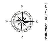 old retro compass for... | Shutterstock .eps vector #1038297190