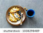 cup of coffee and delicious... | Shutterstock . vector #1038298489