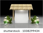 board exhibition stand modern... | Shutterstock . vector #1038299434