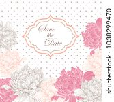 vintage card or invitation with ... | Shutterstock .eps vector #1038299470