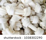 artificial dog bones with two... | Shutterstock . vector #1038302290