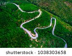 aerial view of drone over... | Shutterstock . vector #1038303658
