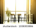 bright sun in modern interior... | Shutterstock . vector #1038303886