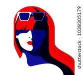 abstract female portrait.... | Shutterstock .eps vector #1038305179