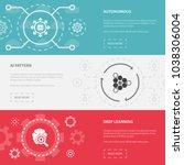 artificial intelligence 3... | Shutterstock .eps vector #1038306004