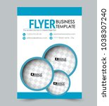 a4 size flyer template.... | Shutterstock .eps vector #1038307240
