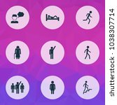 people icons set with leader ... | Shutterstock .eps vector #1038307714