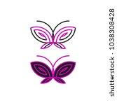 purple and black butterflies... | Shutterstock .eps vector #1038308428