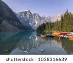 moraine lake  banff national... | Shutterstock . vector #1038316639