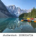 moraine lake  banff national... | Shutterstock . vector #1038316726