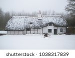 Winter Snow Covered Thatched...