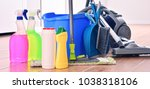 vacuum cleaner and variety of...   Shutterstock . vector #1038318106