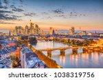 frankfurt  germany skyline over ... | Shutterstock . vector #1038319756