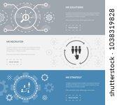 human resources 3 horizontal...   Shutterstock .eps vector #1038319828