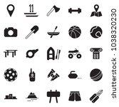 solid black vector icon set  ... | Shutterstock .eps vector #1038320230