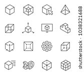3d modeling icon set  3... | Shutterstock .eps vector #1038321688