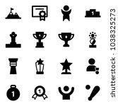 solid vector icon set  ... | Shutterstock .eps vector #1038325273