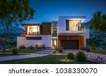 3d rendering of modern cozy... | Shutterstock . vector #1038330070